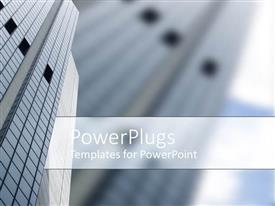 PowerPlugs: PowerPoint template with a skyscraper in the background with place for text in front