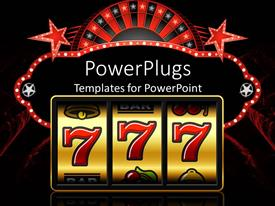 PowerPlugs: PowerPoint template with slot machine showing 777 digits representing a win