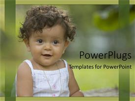 PowerPlugs: PowerPoint template with a small baby girl wearing a white dress and smiling