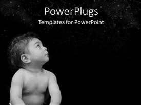 PowerPlugs: PowerPoint template with a small baby staring up into the dark sky