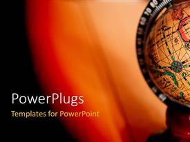 PowerPlugs: PowerPoint template with a globe with a reddish background and place for text