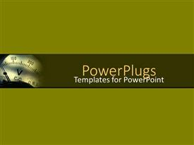 PowerPlugs: PowerPoint template with small depiction of measuring device on simple bold green background