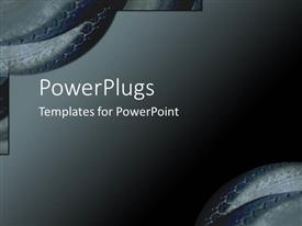 PowerPlugs: PowerPoint template with small depictions of tire parts on gradient gray background