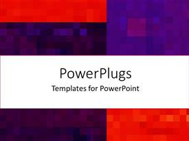 PowerPoint template displaying small pieces of colored squares forming mosaic