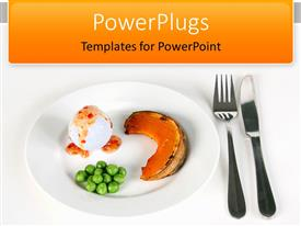 PowerPlugs: PowerPoint template with small portions healthy food on plate