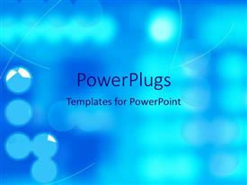 PowerPlugs: PowerPoint template with small spotlights and shining sharp angled lines on blue background