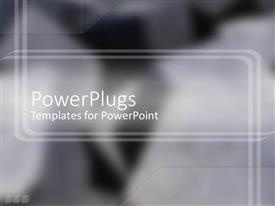 PowerPlugs: PowerPoint template with smart powerful black and gray shades with cute lines