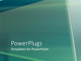 PowerPlugs: PowerPoint template with smooth 3D triangle lying on surface with tone of green