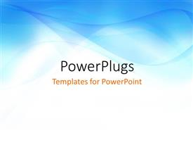 PowerPlugs: PowerPoint template with smooth abstract blue colored waves with white color