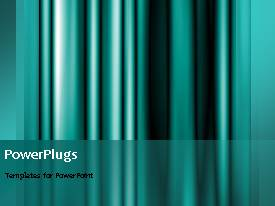 PowerPlugs: PowerPoint template with smooth moving curtain background with blue color