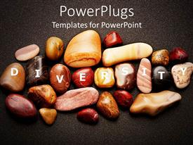 PowerPlugs: PowerPoint template with smooth pebbles variation of colors diverse