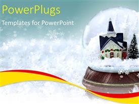 PowerPlugs: PowerPoint template with a beautiful snow globe with a castle inside it