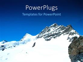 PowerPlugs: PowerPoint template with a snow peek with bluish background and place for text