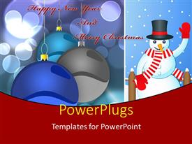PowerPlugs: PowerPoint template with a snowman with a number of balls