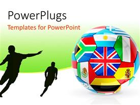 PowerPlugs: PowerPoint template with a football with a number of players
