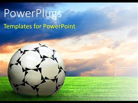 PowerPlugs: PowerPoint template with soccer ball football sport game collage