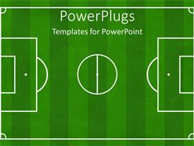 PowerPlugs: PowerPoint template with soccer football ground background, soccer playground, football playground design