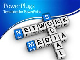 PowerPlugs: PowerPoint template with social media network in the form of boxes brought together