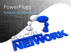 PowerPlugs: PowerPoint template with a social network with white background