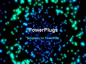 PowerPlugs: PowerPoint template with solar system depiction with sparkling stars around earth globe