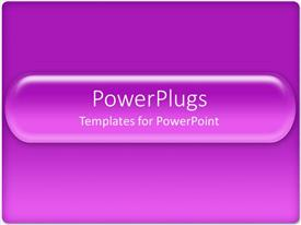 PowerPlugs: PowerPoint template with solid purple background with purple glowing bar with curved edges