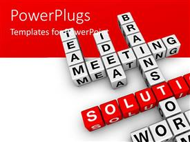 PowerPlugs: PowerPoint template with a number of alphabets with red and white background