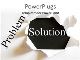 Presentation theme featuring a solution with a white background and place for text