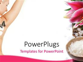 PowerPlugs: PowerPoint template with beautiful lady having spa treatment with lily flower and spa supplies