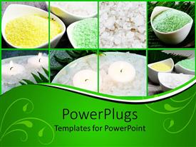 PowerPlugs: PowerPoint template with spa setting, tea light candles, bath salts