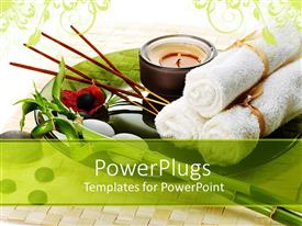 PowerPlugs: PowerPoint template with spa towels, tea light, bamboo, incense