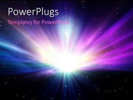 PowerPlugs: PowerPoint template with a space view of a brightly shinning white light