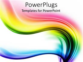 PowerPlugs: PowerPoint template with spectrum waves of different colors on the white background