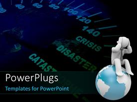 PowerPlugs: PowerPoint template with speedometer on the Earth shows humanity speeding toward global catastrophe