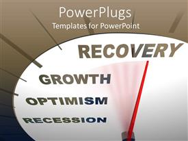 PowerPlugs: PowerPoint template with a speedometer showing the growth with place for text