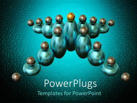 PowerPoint template displaying spheres with round balls on top arranged in star shape