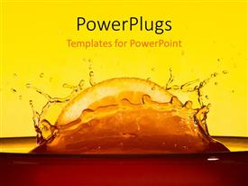 PowerPlugs: PowerPoint template with splash caused by dropping slice of orange in juice
