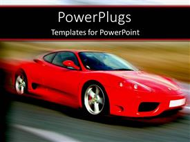 PowerPlugs: PowerPoint template with a sports car on the move with a blurred background