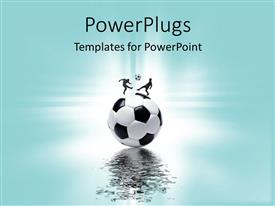 PowerPlugs: PowerPoint template with sports concept with football and players