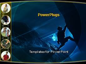 PowerPlugs: PowerPoint template with sports rock climbing bouldering hiking night camping adventures journey trips travel