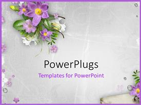 PowerPlugs: PowerPoint template with spring flowers on textured background