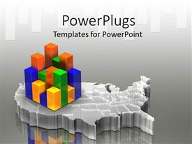 PowerPlugs: PowerPoint template with a square of colored bar chart is present in the map