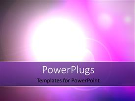 PowerPlugs: PowerPoint template with star, Sun With Lens Flare Background in Purple and Pink