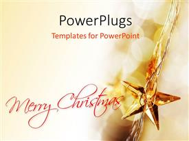 PowerPlugs: PowerPoint template with a star with a text that spells out the word 'Merry Christmas '
