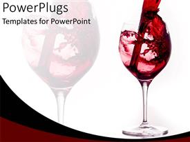 PowerPlugs: PowerPoint template with start celebration with red wine glass