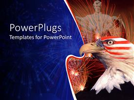 PowerPlugs: PowerPoint template with statue of Abraham Lincoln with an American bald eagle
