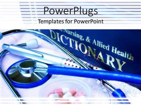 PowerPlugs: PowerPoint template with a stethoscope with a number of pens