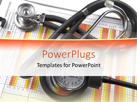 PowerPlugs: PowerPoint template with a stethoscope placed in front of a medical chart
