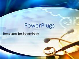 PowerPlugs: PowerPoint template with a stethoscope on a white colored background with medical logos