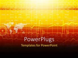 PowerPlugs: PowerPoint template with a stock market related background with a map