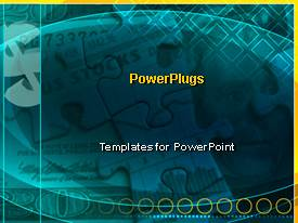 PowerPlugs: PowerPoint template with stocks money puzzle pieces problems issues blue background solutions